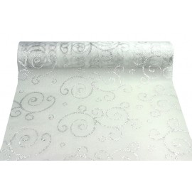Chemin de table organza arabesque paillette