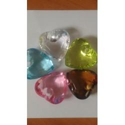 Coeur effet cristal divers coloris