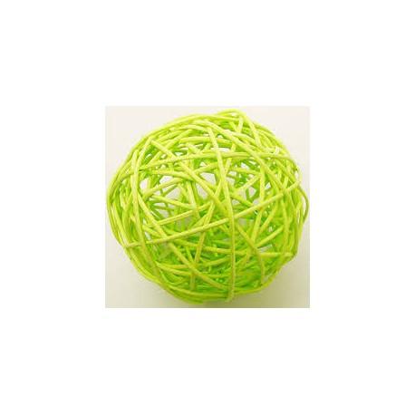 6 Boules osier diam 3.5 cm